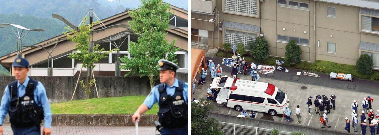 """A polícia em Sagamihara, Kanagawa, cerca de 40 km a sudoeste de Tóquio, prendeu um homem de 20 anos; de acordo com as reportagens, funcionários chamaram a polícia às 2:30 no horário local, com relatos de um homem armado com uma faca na instituição Tsukui Yamayuri Garden; a Asahi Shimbun informou, segundo a polícia, que o suspeito disse: """"Eu quero livrar os deficientes deste mundo"""""""