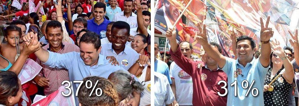 Pesquisa Ibope divulgada aponta o prefeito de São Luís e candidato à reeleição, Edivaldo Holanda Júnior (PDT), em primeiro lugar na corrida eleitoral, com 37% dos votos, seguido por Wellington Do Curso (PP), com 31%, e por Eliziane Gama (PPS), com 10%; em um eventual segundo turno,Edivaldo aparece com 42%, eWellington do Curso (PP), com 44%