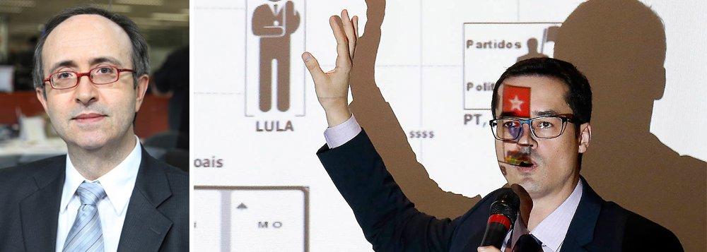 """""""O que estou sustentando é que a denúncia é inepta e que a força-tarefa, com o seu gosto pela ribalta, prestou um favor imenso à defesa do ex-presidente"""", disse o colunista Reinaldo Azevedo, o mais antipetista dos jornalistas brasileiros, em artigo publicado nesta sexta-feira, ao comentar a denúncia divulgada por Deltan Dallagnol; """"Não por acaso, o PT e os advogados de Lula comemoraram. Não por acaso, Rodrigo Janot ficou preocupado"""""""