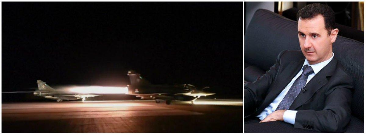 """O comando geral do Exército da Síria disse que aviões da coalizão liderada pelos EUA bombardearam uma posição do Exército sírio em Jebel Tharda perto do aeroporto de Deir al-Zor, abrindo caminho para que os combatentes do EI tomem o local; o ataque aéreo matou soldados sírios e é """"prova conclusiva"""" de que os EUA e seus aliados apoiam o grupo jihadista, disse o Exército sírio em um comunicado, ressaltando que o ataque é uma """"perigosa e flagrante agressão""""; Síria é comandada pelo ditadorBashar al-Assad"""