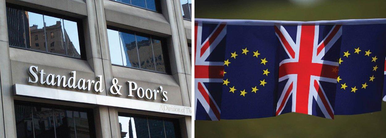"""A agência de classificação de risco Standard & Poor's cortou nesta segunda-feira a nota soberana do Reino Unido em dois degraus, para """"AA"""" ante """"AAA"""", e alertou que pode reduzi-la ainda mais após os britânicos votarem pela saída da União Europeia na semana passada"""
