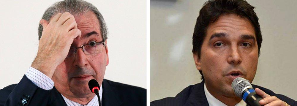 """Presidente afastado da Câmara, Eduardo Cunha (PMDB-RJ), rebateu as acusações feitas pelo delator Fábio Cleto,ex-vice-presidente da Caixa,que acusa o parlamentar de receber propinas de grupos empresariais que obtiveram aportes milionários do FI-FGTS; """"Se ele cometeu irregularidades, que responda por elas. Desafio qualquer um a provar a veracidade dessas delações como também qualquer vinculação, de qualquer natureza, com as contas mencionadas por esses delatores"""""""