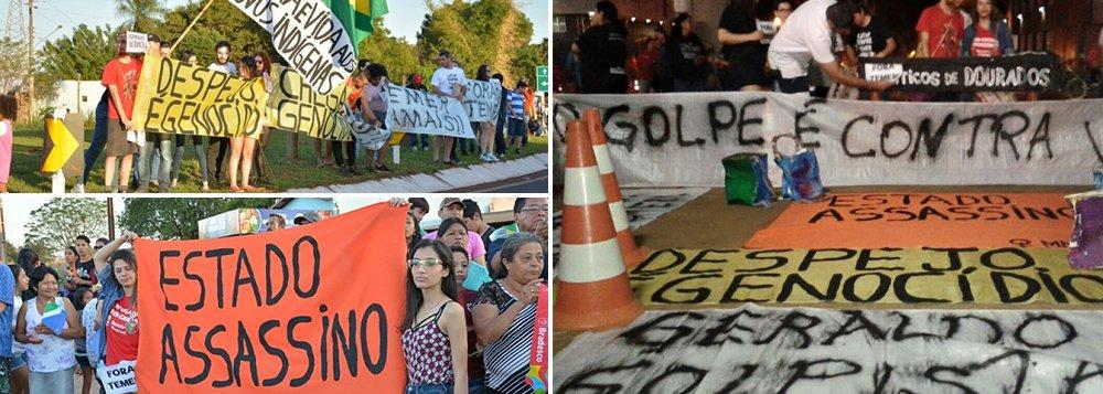 Durante a passagem da tocha olímpica no município, grupo de estudantes da UFGD (Universidade Federal da Grande Dourados) se posicionou no trevo de acesso à MS-156, na Reserva Indígena de Dourados, com cartazes pedindo a saída do presidente interino Michel Temer (PMDB); eles também protestaram contra o genocídio indígena