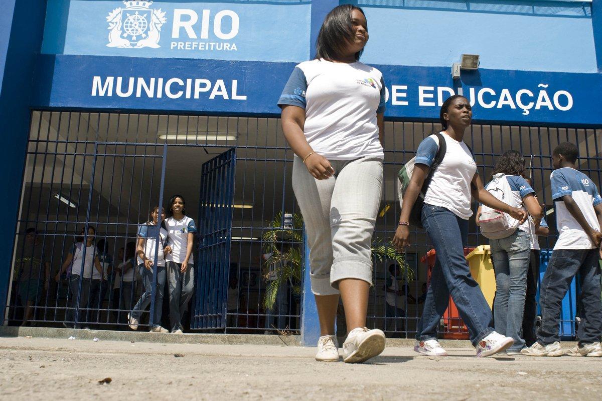 Escolas do Amanhã na Escola Municipal Padre Aleixo, na Cidade de Deus, em Jacarepaguá, uma das 150 unidades participantes do projeto da Prefeitura do Rio de Janeiro.