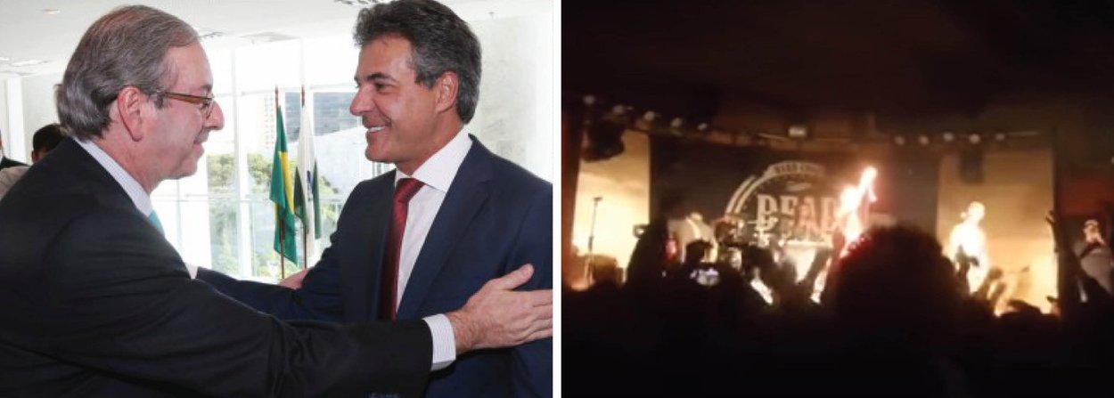 """O governador do Paraná,Beto Richa (PSDB), foi """"homenageado"""" num clube de Curitiba após a aprovação da cassação de seu aliado Eduardo Cunha(PMDB-RJ); """"Ei, Richa, vai tomar no…"""" repetia exaustivamente, uníssona, a plateia curitibana (veja o vídeo); o tucano, cujo partido ocupa três ministérios no governo Michel Temer, esteve em Brasília para solidarizar-se com Cunha"""