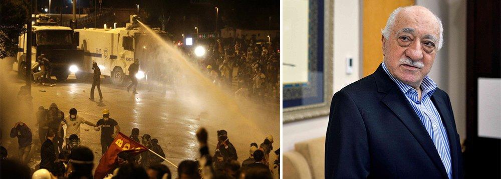 """Clérigo turco Fethullah Gulen,que mora nos Estados Unidos e foi acusado de traição pelo presidente da Turquia disse que Tayyip Erdogan está usando um golpe de Estado fracassado para se promover e pediu que a Europa a intervenha paraa evitar uma """"catástrofe"""" em meio aos expurgos que vêm atingindo desde o Exército até o Judiciário"""