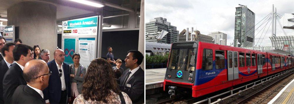 """No segundo dia de trabalho em Londres, uma comitiva do governo baiano, que tem objetivo de captar parceiros para a implantação do Veículo Leve sobre Trilhos (VLT) em Salvador, visitou nesta terça-feira o Docklands Light Railway, maior sistema de veículos leves da Inglaterra; """"As visitas que fizemos hoje ao sistema de Veículos Leves sobre Trilhos aqui de Londres e a reunião com os representantes da KPMG demonstraram que investimentos em infraestrutura de transporte são vetores de desenvolvimento quando associados a planos de desenvolvimento urbano"""", diz Paulo Guimarães,superintendente de Promoção do Investimento do Estado"""