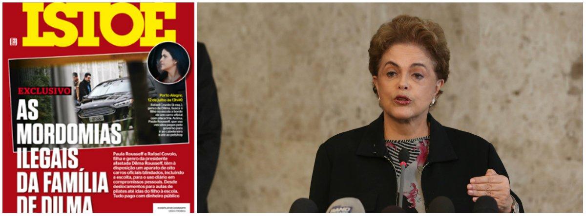 """Advogados da presidente Dilma Rousseff solicitaram ao Gabinete de Segurança Institucional da Presidência da República a abertura de sindicância para apurar o vazamento de informações sobre a rotina da família Rousseff em Porto Alegre, passadas à revista; Dilma também quer direito de resposta sobre a reportagem do fim de semana que, segundo a assessoria da presidente, """"publicou informações sensíveis sobre os aspectos da segurança de familiares da presidenta"""""""