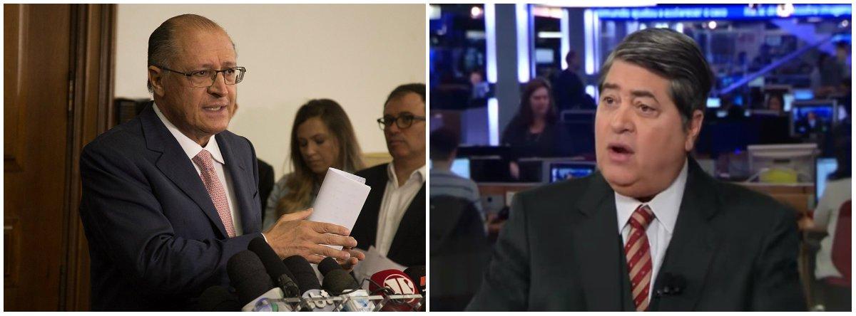 """""""O Datena é um grande comunicador, está no rádio, na televisão, tem credibilidade e pode ter uma votação gigantesca. Acho importante a sua participação"""", disse opré-candidato do PSDB à presidência da República, Geraldo Alckmin"""
