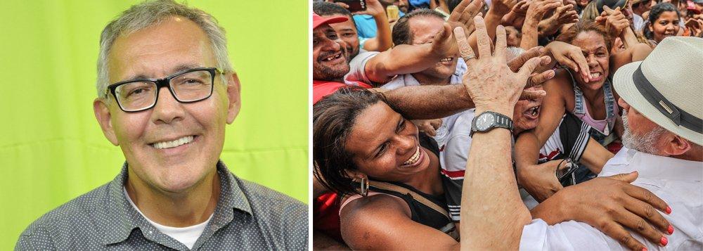 """O jornalista Mauro Lopes analisa a pesquisa Ibope que aponta Lula liderando o pleito eleitoral com 33% dos votos; """"Quando Lula é retirado da consulta, o eleitorado migra para brancos e nulos, tal fato só reafirma que as eleições presidenciais sem Lula é uma fraude"""", opina; assista a íntegra do programa Giro das 11"""