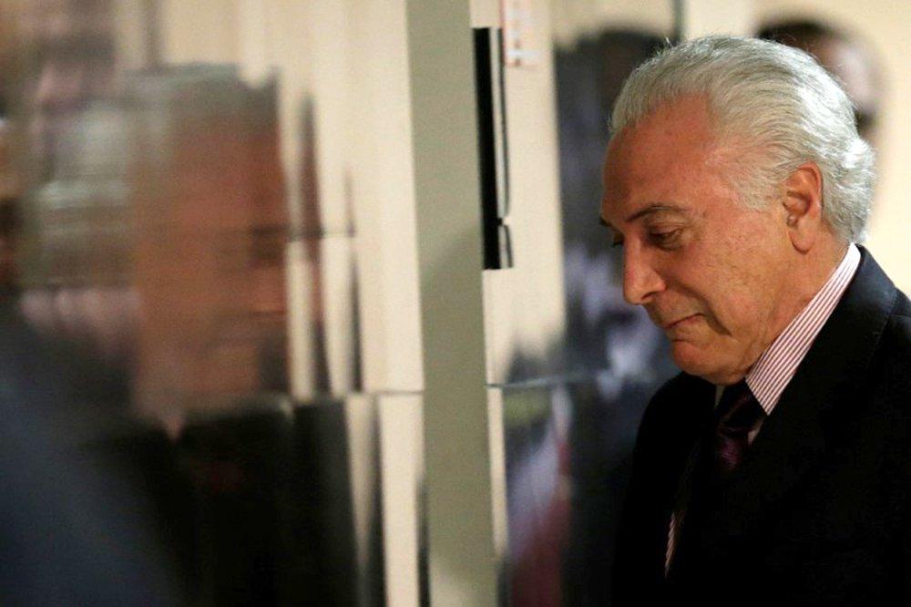 Presidente Michel Temer após declaração à imprensa no Palácio do Planalto 01/06/2018 REUTERS/Ueslei Marcelino