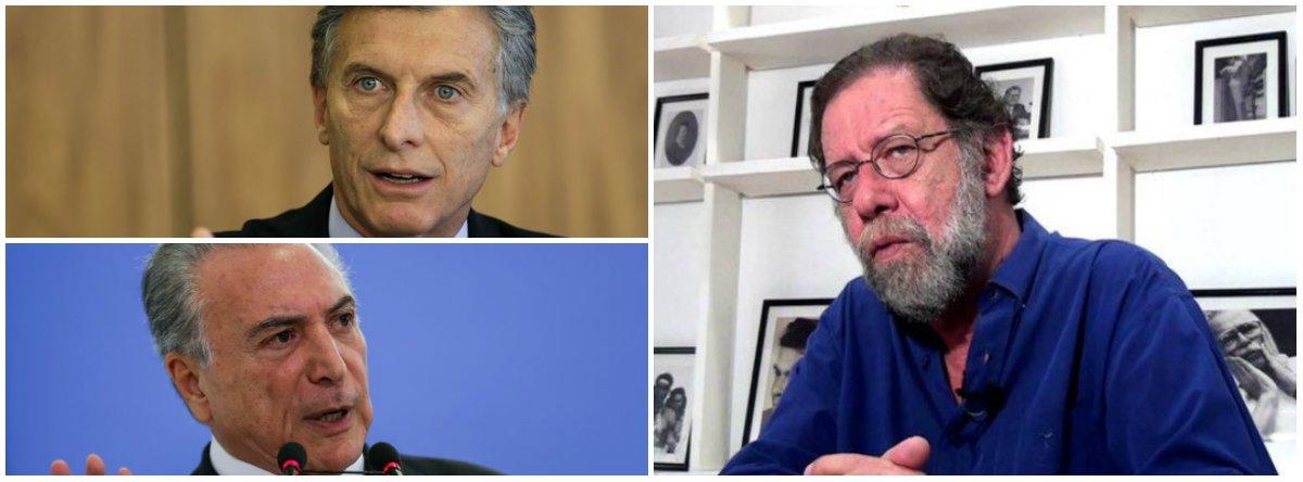 """O desmantelamento do estado argentino, """"é muito parecido – tirando, evidentemente, uma desvalorização tão atroz e uma inflação tão feroz – com o que acontece com Michel Temer e sua quadrilha no Brasil"""", diz o escritorEric Nepomuceno no site Nocaute"""