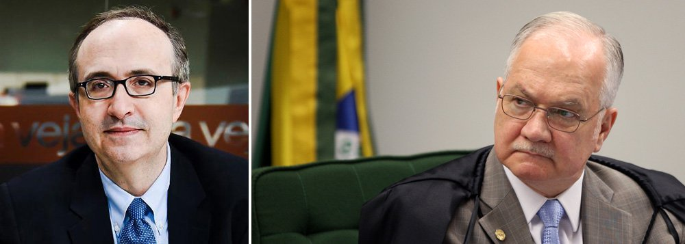 """O jornalista Reinaldo Azevedo afirma que o ministro do Supremo Tribunal Federal (STF), Edson Fachin, agride a Constituição e se coloca como fascistoide de direita, atendendo a interesses obscuros; Reinaldo diz que o voto de Fachin é """"debochado, cretino e bucéfalo"""" e que ele contorce o entendimento jurídico para obter uma decisão que é, em essência, ressentida e defensiva"""