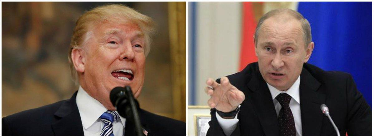 O presidente dos Estados Unidos, Donald Trump, e o da Rússia, Vladimir Putin, têm encontro marcado para o próximo dia 16 de julho na Finlândia;Coreia do Norte, Síria e sanções dos EUA à Rússia estão no cardápio da cúpula