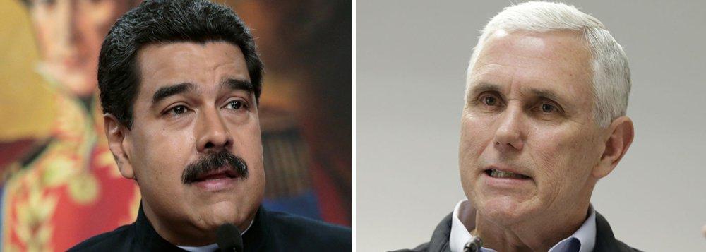 """O presidente da Venezuela, Nicolás Maduro, chamou de """"cobra venenosa"""" o vice-presidente dos Estados Unidos, Mike Pence, que está em uma viagem pela América Latina, passando pelo Brasil e Equador; """"A cada vez que a cobra venenosa de Mike Pence abre a boca, eu me sinto mais forte, mais claro de qual é o caminho, o caminho é nosso, é venezuelano, não é o que nos aponta Mike Pence"""", disse Maduro"""