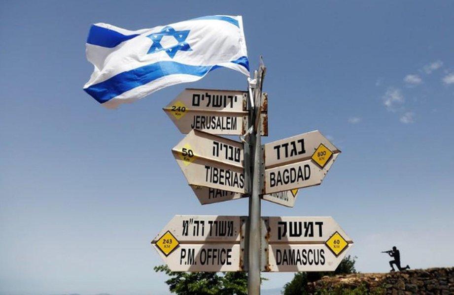 Bandeira de Israel 10/05/2018 REUTERS/Ronen Zvulun