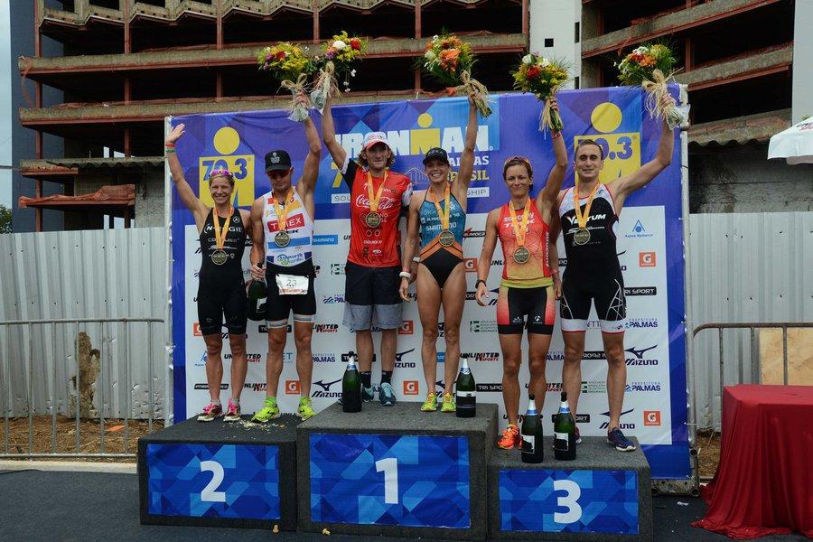 O atleta britânico Tin Dom confirmou o favoritismo e venceu o Ironman 70.3 Palmas, realizado nesse domingo, 10; ele terminou a prova em3 horas e 53 minutos;na categoria feminina, a canadense Magali Tisseyre foi a primeira a cruzar a linha de chegada; entre os 32 palmenses que competiram, o atleta Vander Praxedes conquistou a melhor colocação, após completar a prova em um pouco mais de quatro horas