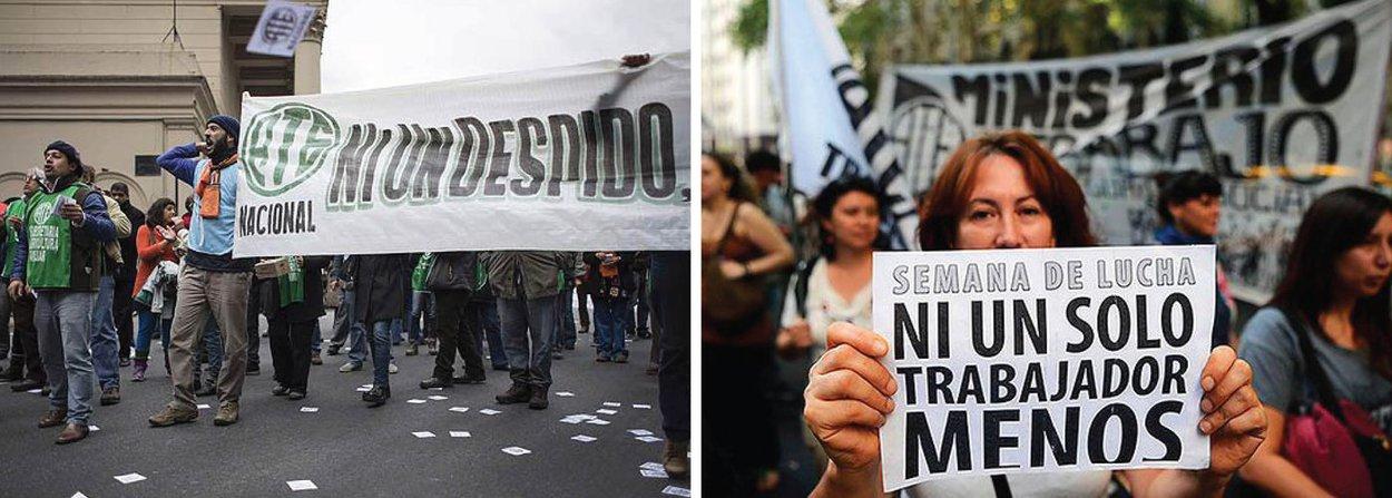 Milhares de trabalhadores da Argentina estão nas ruas de Buenos Aires nesta sexta-feira, 29, em protesto contra o governo de Mauricio Macri; na primeira grande manifestação, organizada por cinco centrais sindicais, partidos da oposição e organizações sociais, eles pedem ações contra a inflação, demissões em massa, aumento de tarifas do setor público