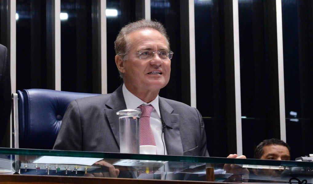 A sessão para votação de comissão de impeachment no Senado começou com um pedido para que os processos de impeachment da presidente Dilma Rousseff e do vice-presidente Michel Temer sejam analisados conjuntamente pelo Senado; o pedido foi formulado pelo senador João Capiberibe (PSB-AP), que apresentou uma questão de ordem, em nome de sete senadores, sobre o caso; mas o presidente do Senado, Renan Calheiros (PMDB-AL), rejeitou o pedido