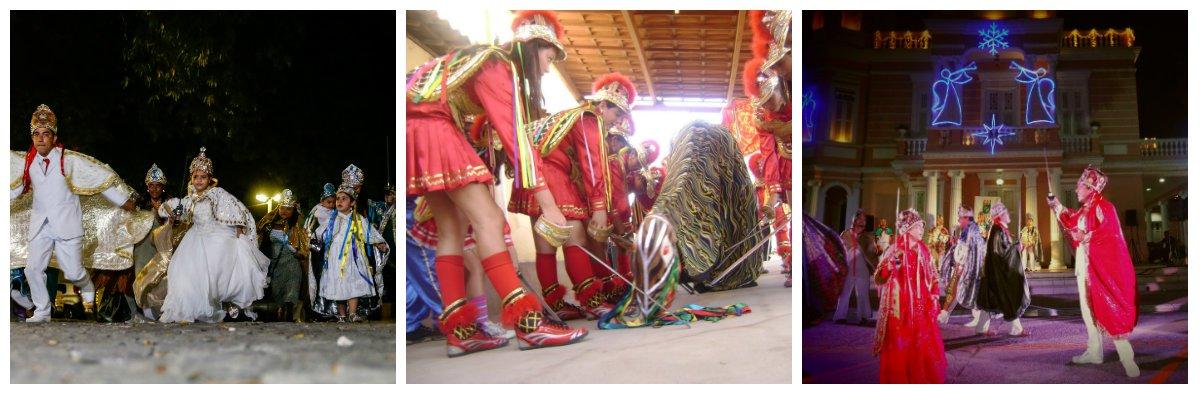Para marcar o encerramento dos festejos natalinos a Secult-Ce programou para hoje, Dia de Reis, apresentações de grupos de pastoril, boi, reisado, lapinha viva, presépio, fandango e grupos de mestres convidados, na Praça do Ferreira, em Fortaleza, das 9 às 18 horas