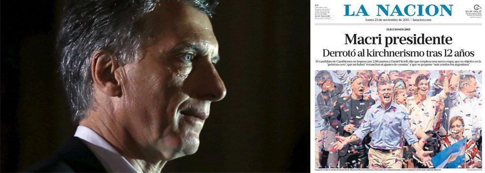 """Editorial do jornal La Nación, o segundo maior no país, pede nesta segunda-feira 23, um dia após a vitória do candidato da oposição, Mauricio Macri, o fim da """"vingança"""" contra militares que atuaram na ditadura do país, define a condenação desses agentes como """"vergonhosa"""" e prega o fim do que chama de """"violação dos direitos humanos"""" cometidos pelo governo de Cristina Kirchner; durante sua campanha eleitoral, o conservador Macri já havia dito que iria acabar com o """"negócio"""" que se tornou a questão dos direitos humanos na Argentina; vários jornalistas que trabalham no veículo vieram a público repudiar o texto"""