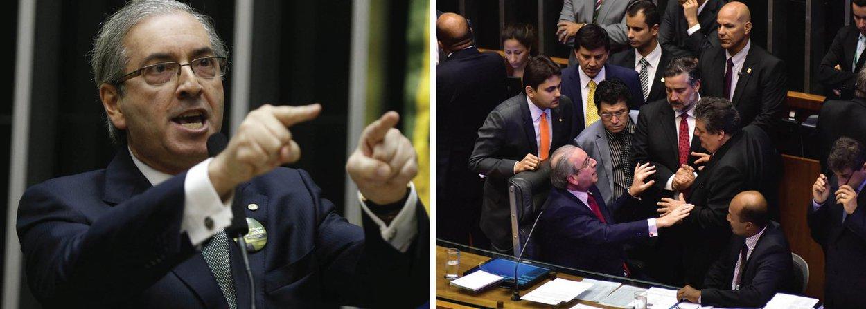 """Depois de manobra do presidente da Câmara, que permitiu a criação de uma chapa alternativa para concorrer na votação que definiria os integrantes da comissão especial de impeachment, foi eleita a """"comissão do golpe"""", com a maioria de parlamentares da oposição, que defendem o impeachment da presidente Dilma Rousseff; votação teve bastante tumulto, gritaria e terminou em272 votos para a chapa 2, contra 199 votos da chapa 1;tema será decidido agora no STF, em sessão marcada para o dia 16; o PCdoB entrou com duas ações na corte, uma contra a votação secreta e outra contra a criação da segunda chapa"""