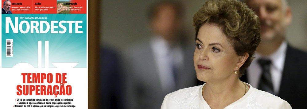 """Reportagem de capa da revista Nordeste aborda os desafios da presidente Dilma Rousseff em 2016; de acordo com seus editores, o país está apenas vivendo uma trégua com as decisões do Supremo Tribunal ao estabelecer um rito jurídico para o andamento do processo de impeachment; """"a serpente parece dormir, mas ela choca os ovos"""", diz editorial da publicação, quejá está online e pode ser baixada para smartphone ou tablet, além de poder ser acessada diretamente pelo computador"""