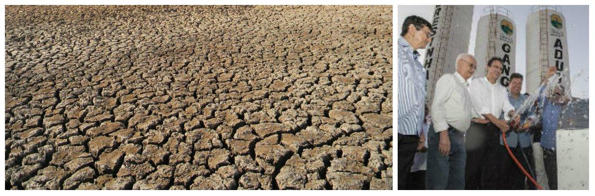 Do total de açudes monitorados através do Portal Hidrológico da Secretaria de Recursos Hídricos, nove reservatórios estão secos e apenas doze estão com mais de 20% de volume de água.Ontem(30), o governador Camilo Santana inauguroumais uma adutora, nalocalidade de Santa Terezinha, no município de Granja