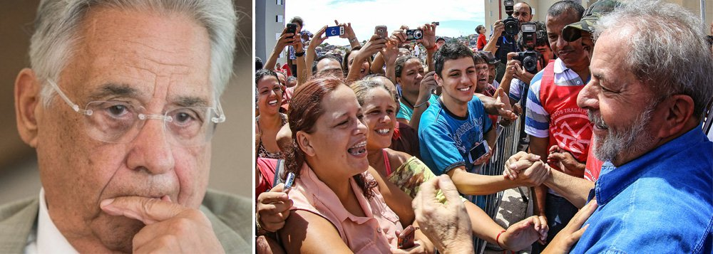 """""""FHC tornou-se a triste caricatura desse fracasso da velha elite brasileira. De teórico da transição conservadora e de presidente de uma nota só – a estabilidade monetária -, de social democrata a um reles neoliberal -, tornou-se um golpista sem ideias e sem apoio popular"""", diz o colunista Emir Sader; """"A tragédia da trajetória de FHC resume, de forma exemplar, o fracasso da elite tradicional brasileira diante de um pais que teve revelado todo o seu potencial com o governo Lula e que busca seu reencontro com esse caminho, derrotando, uma vez mais, a FHC e a direita brasileira"""""""