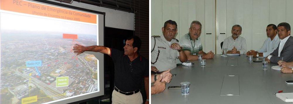 """O prefeito de Camaçari, Ademar Delgado (PT), analisou nesta segunda-feira o novo simulado do Plano de Emergência da Comunidade nível 4 do Cofic (Comitê de Fomento Industrial de Camaçari); o plano é voltado para orientação da comunidade em uma eventual situação de emergência relacionada ao Polo Industrial da cidade; Ademar destacou que em uma cidade como Camaçari, que abriga um complexo industrial do porte do polo, """"é de suma importância ter um plano de emergência e, mais importante ainda, é preparar a comunidade para saber como se portar em uma situação de emergência"""""""