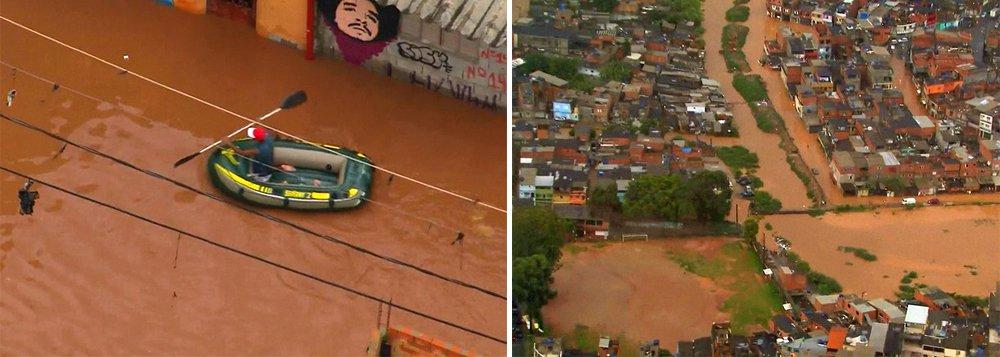 s regiões de Perus e de São Mateus, nas zonas norte e leste de São Paulo, respectivamente, permaneciam em estado de alerta na manhã deste sábado (2), um dia depois de fortes chuvas atingirem a capital paulista; a medida foi adotada pelo Centro de Gerenciamento de Emergências (CGE), ligado à prefeitura, após dois córregos transbordarem