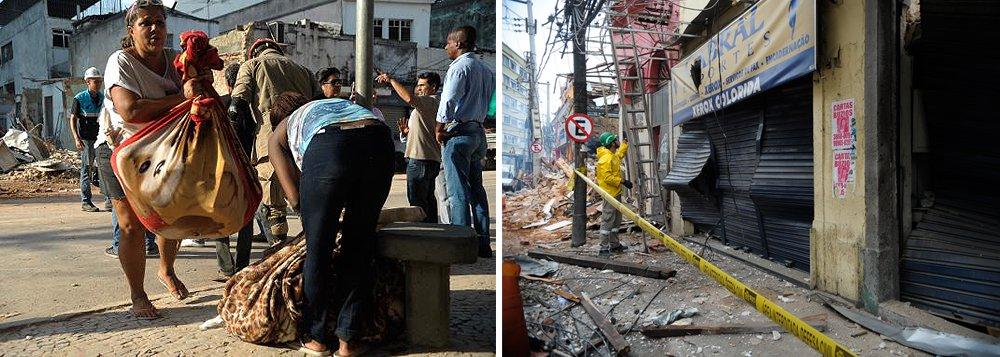 A explosão que atingiu 54 imóveis e destruiu 13 deles, no bairro de São Cristóvão, deixou famílias desabrigadas, trabalhadores desempregados e comerciantes sem suas lojas; dezenas de pessoas acompanhavam de perto o trabalho de remoção dos escombros, na esperança de recuperar pelo menos alguns objetos pessoais, principalmente roupas e documentos