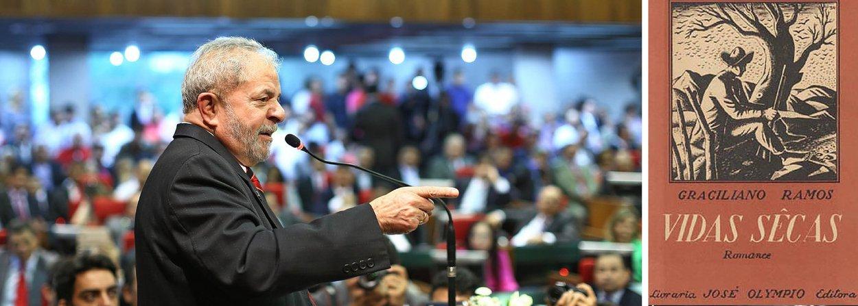 """Luiz Inácio, pernambucano, fugiu da seca e da fome e migrou para o Sudeste como um personagem de """"Vidas Secas"""". Conseguiu se formar torneiro mecânico, entrou para o sindicato e, após uma vida dedicada a lutar pelos direitos dos trabalhadores, foi eleito presidente da República em 2002, transformado na maior liderança popular do século XX"""