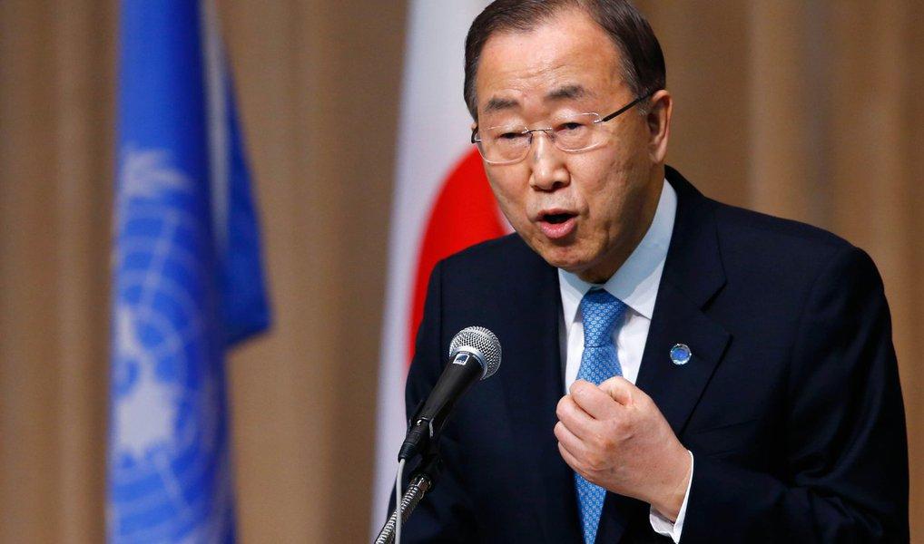 """Secretário-geral da ONU, Ban Ki-moon, diz que o teste nuclear feito pela Coreia do Norte – o quarto realizado pelo regime de Pyongyang – é """"profundamente desestabilizador para a segurança regional"""" e """"gravemente nocivo para os esforços internacionais de não proliferação [nuclear]""""; declarações foram feitas antesreunião de emergência do Conselho de Segurança sobre a situação"""