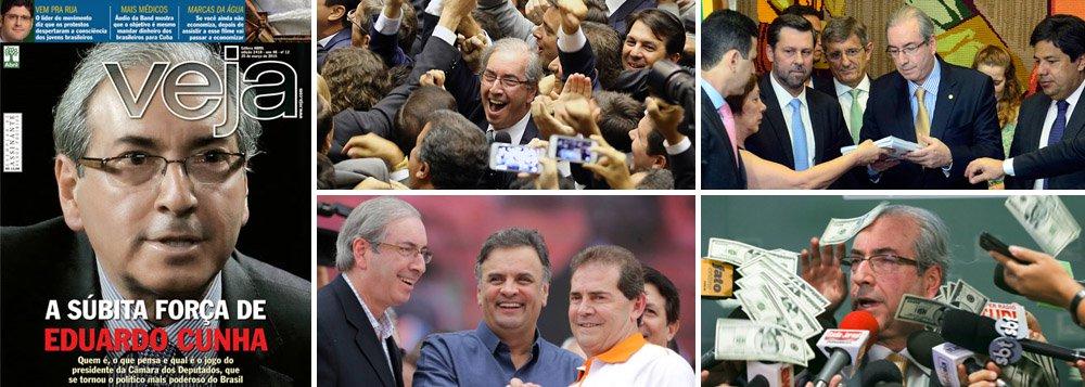 O roteiro amargo de 2015 foi definido no primeiro dia de fevereiro deste ano, quando o deputado Eduardo Cunha (PMDB-RJ) se elegeu presidente da Câmara dos Deputados; a partir dali, com apoio da oposição liderada pelo PSDB e dos setores mais conservadores da mídia, ele colocou em marcha um projeto de implosão política e econômica do País; com suas pautas-bomba, fez a aposta no 'quanto pior, melhor', em sintonia com o PSDB; com a ameaça permanente de impeachment, deflagrado no fim do ano, drenou as energias do governo para o embate político; depois de descobertas suas movimentações financeiras na Suíça, Cunha termina 2015 enfraquecido, mas ainda age e fala como se nada tivesse acontecido