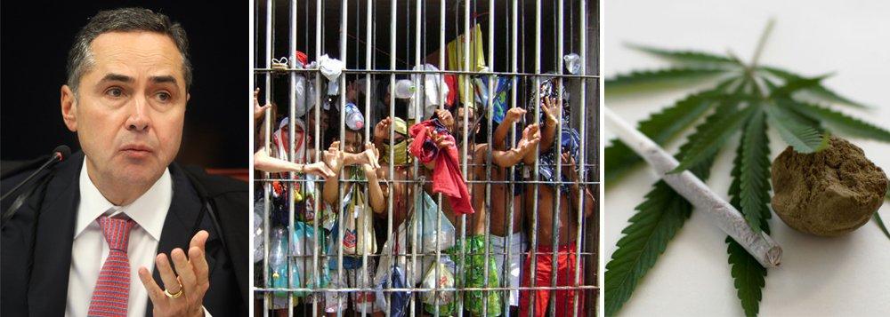 """""""É um sistema feito para pender meninos com 100 gramas de maconha. Você não consegue prender um empresário que deu golpe de R$ 10 milhões"""", criticou o ministro Luís Roberto Barroso,do Supremo Tribunal Federal, durantecolóquio sobre o Supremo Tribunal Federal, na Associação dos Advogados de São Paulo; """"O sistema brasileiro é tão ruim que nós temos 600 mil presos, metade não tem a ver com duas grandes queixas da sociedade: violência e corrupção. Quase a metade dos presos do país estão presos por drogas ou por crimes não violentos"""", afirmou"""
