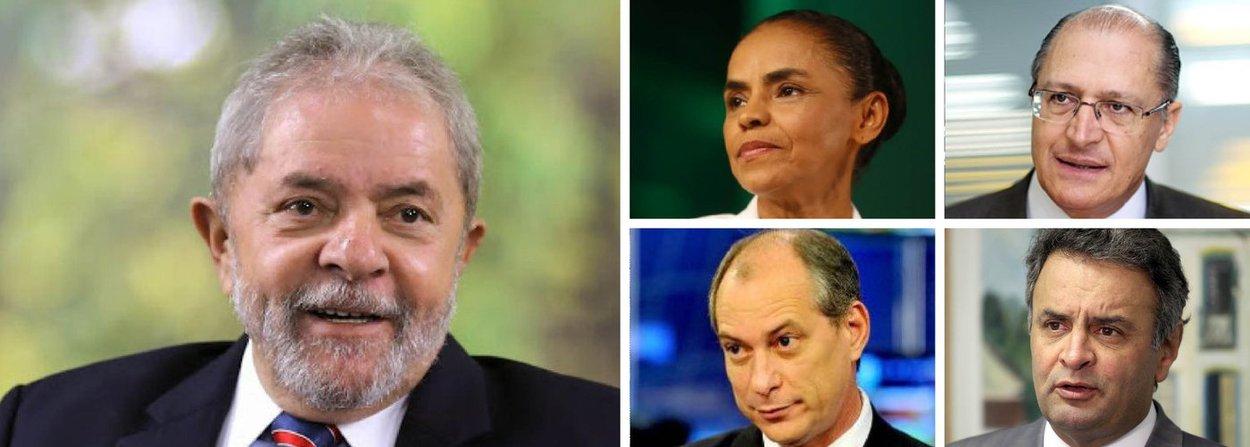 Pesquisa realizada pelo instituto Paraná Pesquisas, feita com 1252 eleitores em 32 municípios alagoanos, aponta que o ex-presidente Lula lidera as intenções de voto no mais provável cenário da disputa presidencial em 2018; em seguida aparecem Marina Silva (Rede), o governador de São Paulo, Geraldo Alckmin (PSDB), e em quarto lugar Ciro Gomes (PDT); quadro só é alterado quando aparece o nome do senador Aécio Neves (PSDB)