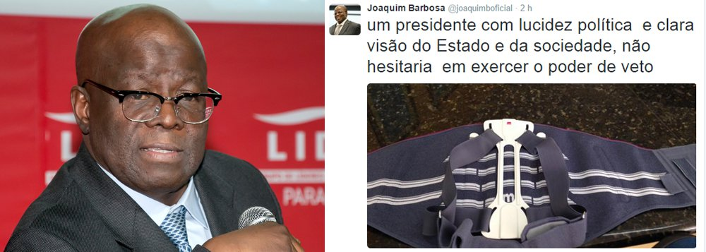 Barbosa cobra que Dilma vete financiamento empresarial