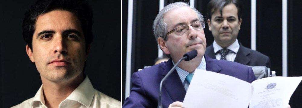 """Colunista Bernardo Mello Franco lembra que o presidente da Câmara negou, em março, à CPI da Petrobras, a existência de """"qualquer tipo de conta em qualquer lugar que não seja a conta que está declarada no seu Imposto de Renda""""; ressalta que, a mentira e a omissão de informações relevantes sobre seu patrimônio caracteriza quebra de decoro parlamentar; """"Se a previsão se confirmar, restará ao peemedebista deixar a cadeira e lutar para não perder o mandato de deputado"""", diz"""