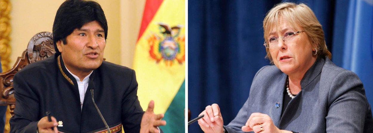 """Corte Internacional de Justiça (CIJ) de Haia reconheceu que a Bolívia pode reivindicar ao Chile o acesso soberano ao Oceano Pacífico, reacendendo conflito iniciado em 1879 entre os dois países; ao receber a noticia da decisão da CIJ, a presidente do Chile, Michele Bachelet, declarou que a Bolívia não ganhou nada e que a Corte de Haia apenas pôs o assunto na mesa; """"A única coisa decidida até agora é que a Corte está apta para reconhecer a reivindicação boliviana. E eu asseguro que o meu governo - e não tenham dúvida disso - adotará todas as medidas necessárias para salvaguardar a integridade do nosso território"""", disse"""
