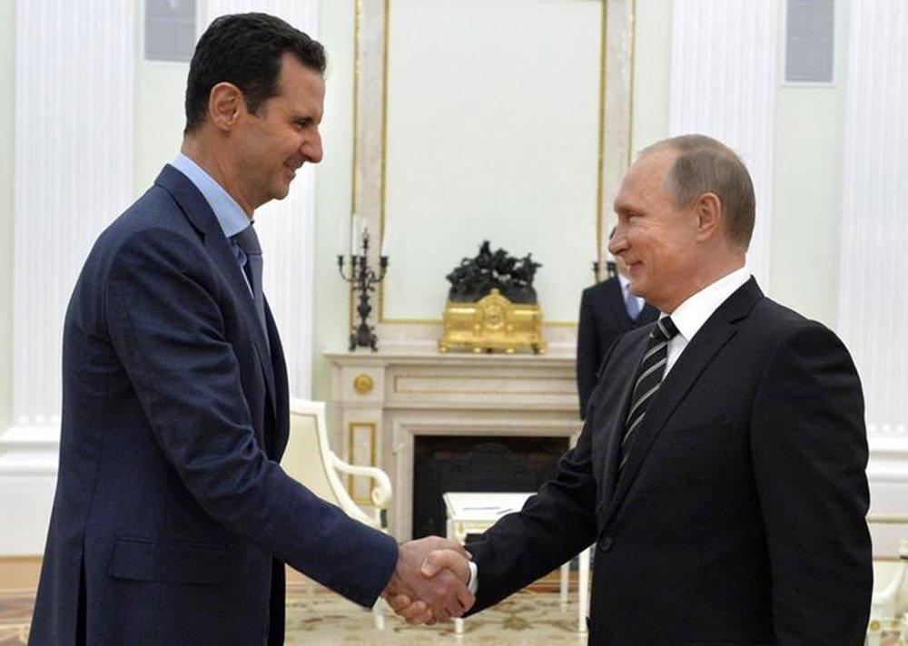 Presidente da Síria, Bashar Al-Assad, e presidente da Rússia, Vladimir Putin, durante encontro em Moscou. 21/10/2015 REUTERS/Alexei Druzhinin/RIA Novosti/Kremlin