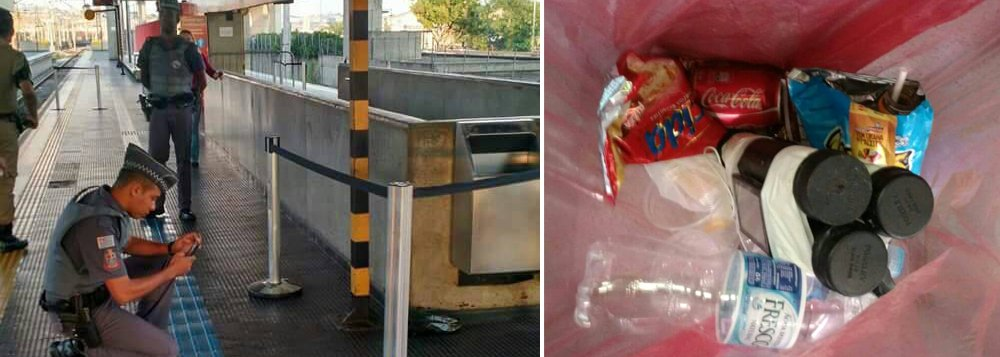 De acordo com a Polícia Militar, um objeto suspeito foi abandonado na Estação Guaianases da Linha 11-Coral; suposto artefato explosivo está acoplado a um celular e amarrado dentro de uma sacola; uma equipe do Grupo de Operações Táticas (Gate) foi deslocada para o local; outra suspeita de bomba também prejudica o atendimento aos usuários na Estação Itaquera, da Linha 3-Vermelha do Metrô
