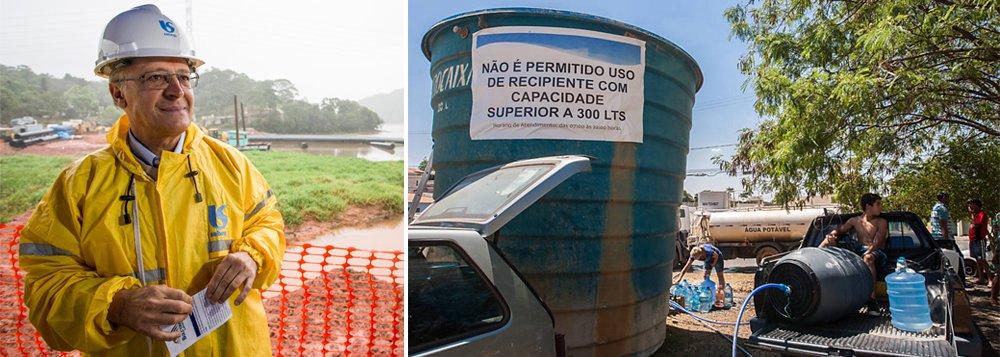 Governador de São Paulo, Geraldo Alckmin (PSDB), que recebeu prêmio no Congresso por sua gestão na crise hídrica, estendeu para março de 2016 a meta de distribuir 25 mil reservatórios até junho; medida foi anunciada para socorrer famílias pobres prejudicadas pelo racionamento