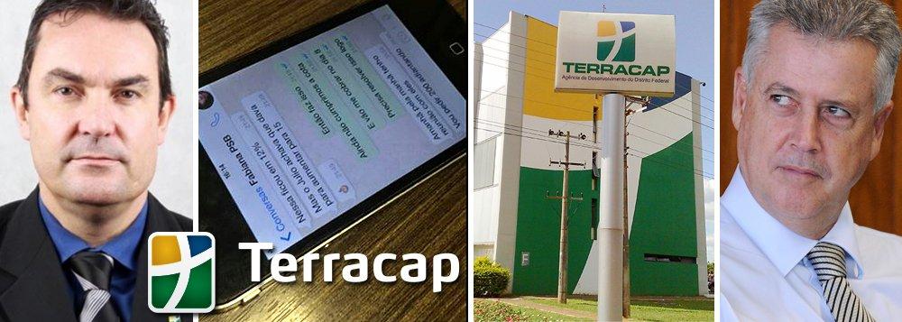 """Denúncia envolve o presidente da Terracap, Alexandre Navarro, que negociaria com uma pessoa ligada ao PSB, chamada """"Fabi"""", pagamentos de propina para o partido via WhatsApp; responsável por todos os loteamentos e projetos de construtoras no Distrito Federal, a Terracap é a maior empresa imobiliária do Brasil e vê agora no meio de um escândalo que pode abalar a imagem do governador Rodrigo Rollemberg; """"Estão montando uma quadrilha aqui"""", diz o informante que enviou as mensagens ao site que fez a denúncia"""