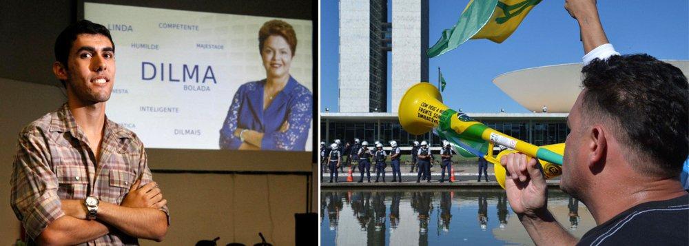 A CPI da Câmara criada para investigar crimes cibernéticos aprovou convites para ouvir o criador do perfil Dilma Bolada, Jeferson Monteiro, e organizadores de movimentos de rua que pedem a saída da presidente Dilma Rousseff (PT); em acordo, os membros da CPI resolveram aprovar convites, porém, se houver recusa de comparecimento, o órgão pode decidir sobre a convocação; o perfil Dilma Bolada, favorável a Dilma, foi alvo de requerimento da oposição, enquanto o PSOL, aliado ao PT, acatou o convite a líderes do Movimento Brasil Livre (MBL) e do Revoltados Online