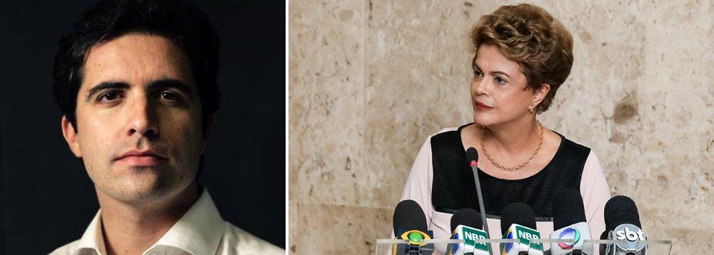 """""""Apesar de ter previsão legal, o impeachment pode não ser legítimo. Se as suas razões forem inconsistentes ou inconfessáveis, ele se reduz a um atalho para destituir governantes escolhidos pelo povo. Há fortes motivos para acreditar que este é o caso do processo em debate na Câmara"""", disse o colunista Bernardo Mello Franco; segundo ele, """"embora a oposição tente negar, a ação contra Dilma está tão contaminada por Eduardo Cunha quanto o rio Doce pela lama da Samarco"""""""