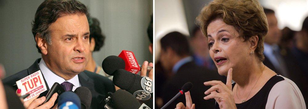 """Partido presidido pelo senador Aécio Neves (MG) disse em nota à imprensa nesta tarde que a base do impeachment """"não está um partido político, mas a voz de milhões de brasileiros""""; declaração foi em resposta à fala da presidente Dilma Rousseff, que afirmou a jornalistas que a base do impeachment """"é e sempre foi"""" o PSDB; apoiador do golpe contra a democracia, o partido tucano destaca o fato do jurista Hélio Bicudo, um dos autores do pedido de impeachment, ser um dos fundadores do PT e diz que o pedido – """"ao contrário do que o PT fez no passado, ao propor o impeachment dos ex-presidentes Itamar Franco e Fernando Henrique Cardoso"""" - tem fundamento"""