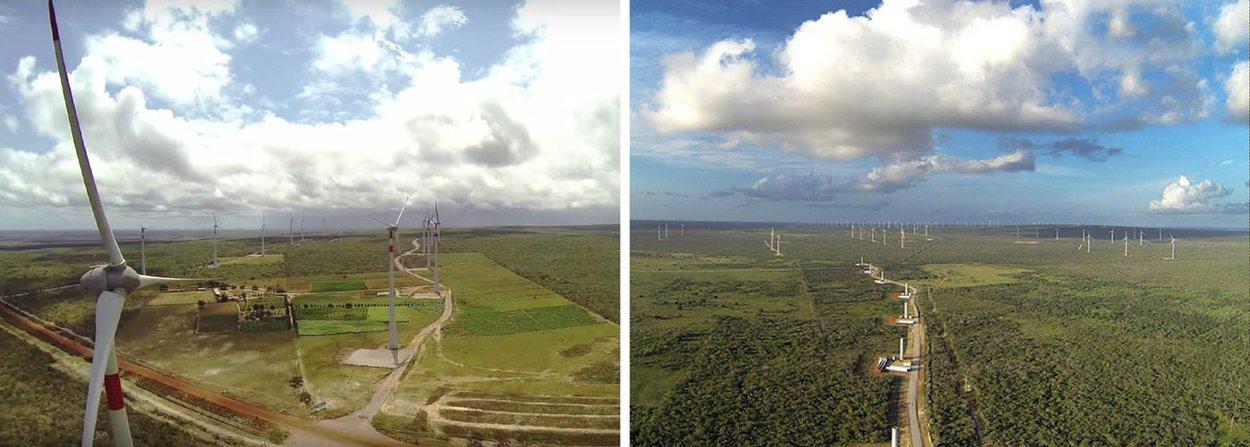 Empresa Casa dos Ventos está inaugurando o complexo eólico Ventos de Santa Brígida, onde foi investido R$ 1,1 bilhão; projeto será responsável pelo acréscimo de 50% da participação da fonte eólica na matriz energética de Pernambuco; empreendimento implantado nos municípios de Caetés, Pedra e Paranatama, no Agreste do Estado, tem uma potência instalada de 182 MW; Casa dos Ventos já iniciou obras de um segundo parque eólico com capacidade para gerar 220 MW de energia