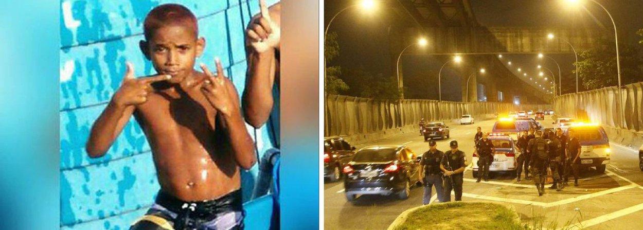 A polícia afastou das ruas e recolheu as armas de cinco PMs da UPP do Caju, no Rio, envolvidos na morte do menino Herinaldo Vinícius da Santana, de 11 anos, atingido com um tiro na cabeça; eles prestaram depoimento na sede da Divisão de Homicídios (DH) da Capital e foram afastados das ruas pela Coordenadoria de Polícia Pacificadora (CPP); os parentes do menino também prestaram depoimento; a PM determinou a abertura de um Inquérito Policial Militar (IPM) para apurar o crime