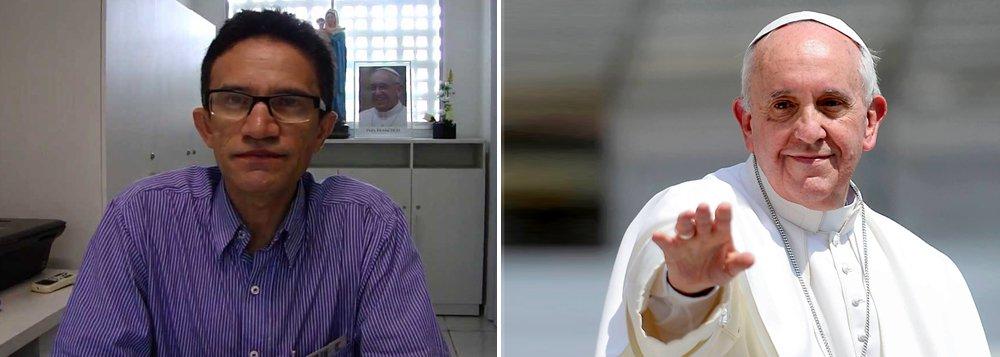"""""""Vossa Santidade e o mundo têm que ficar ciente, informado, do que se passa neste país. Que o vosso olhar de pastor se dirija neste momento para os milhões de brasileiros que estão nas ruas, praças, povoados, campos e cidades, lutando, gritando em defesa do Estado Democrático de Direito e contra a derrubada de um governo iminentemente popular. Há, indubitavelmente, um golpe institucional à vista"""", disse o padre Djacy Brasileiro em carta aberta ao Papa Francisco"""